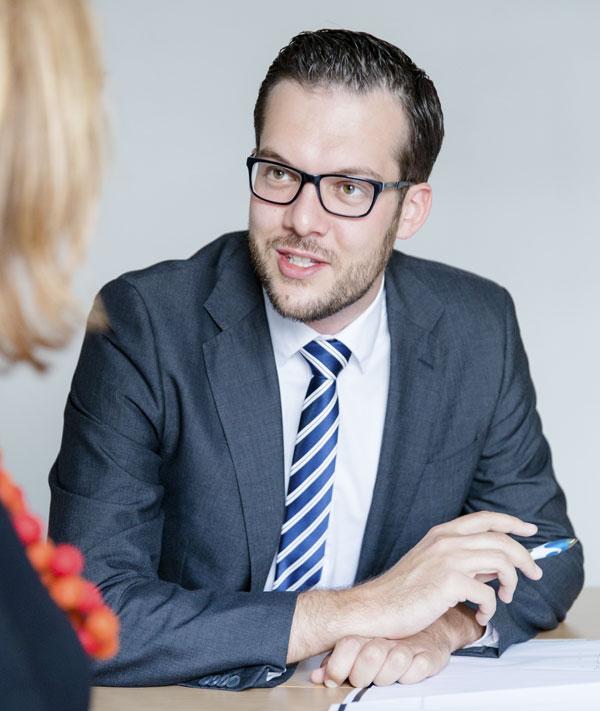 Thorsten Wörner, Beratung Immobilienkauf in seinem Pforzheimer Büro