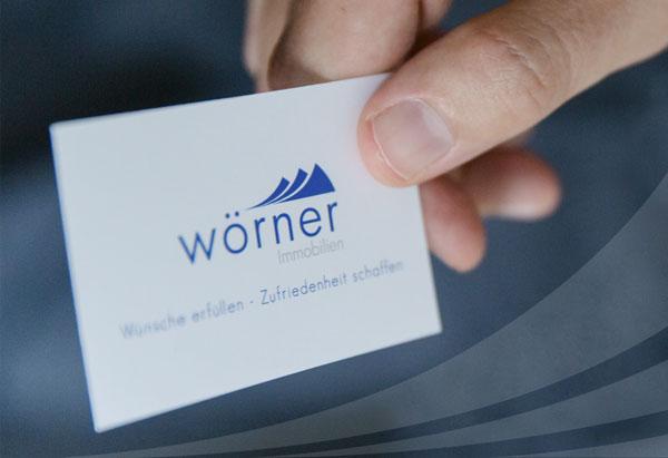 Visitenkarte Wörner Immobilien zur Weiterempfehlung